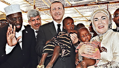 Erdogan dan istri di somalia
